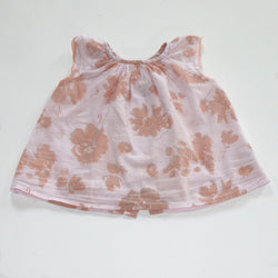 Bonpoint Pale Pink and Neon Print Baby Blouse