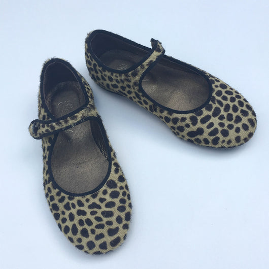 Bonpoint Leopard Print Mary-Jane Shoes