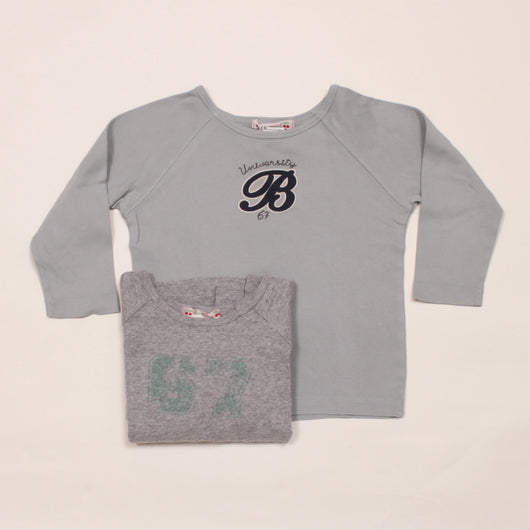 Bonpoint Boys Long-Sleeve Cotton T-Shirt Set: 2 Years