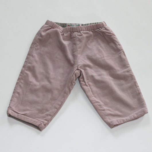 Bonpoint Pale Pink Cord Baby Trousers