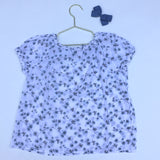 Bonpoint Blue And White Floral Gauzy Blouse: 2 & 4 Years