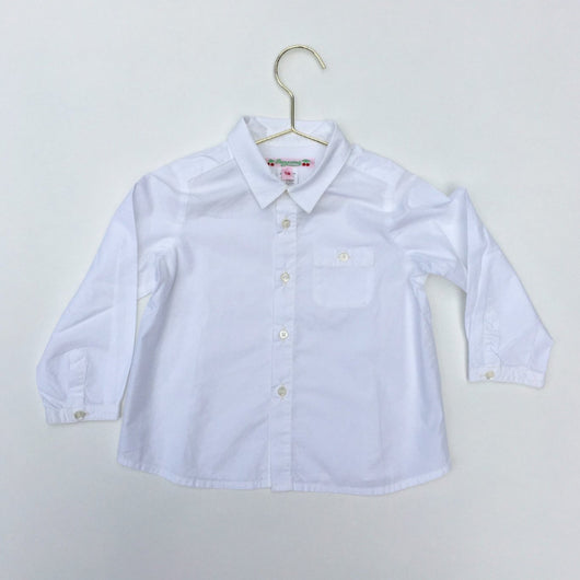 White Bonpoint cotton baby boy shirt