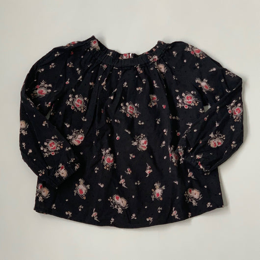 Bonpoint Black Floral Blouse