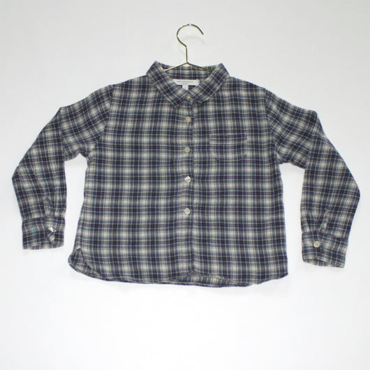Caramel Green And Blue Check Shirt
