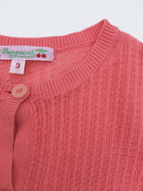 Bonpoint Coral Cotton Cardigan: 3 Years