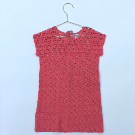 Bonpoint Coral Crochet Dress: 4 Years