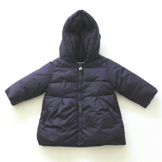Jacadi Navy Hooded Puffa Coat: 12 Months