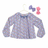 Jacadi Liberty Print Smocked Blouse