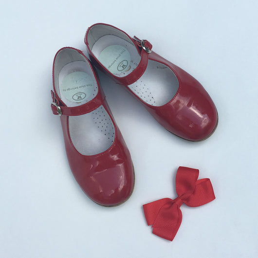 La Coqueta Red Patent Mary-Jane Shoes