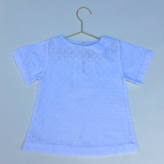 Miller White Broderie Anglais Short Sleeve Top