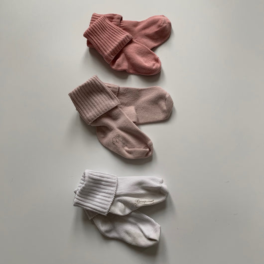 Set of Bonpoint Pink Cotton Socks: 1 Year