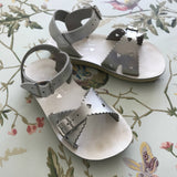 Saltwater Sun-San Silver Metallic Sweetheart Sandals