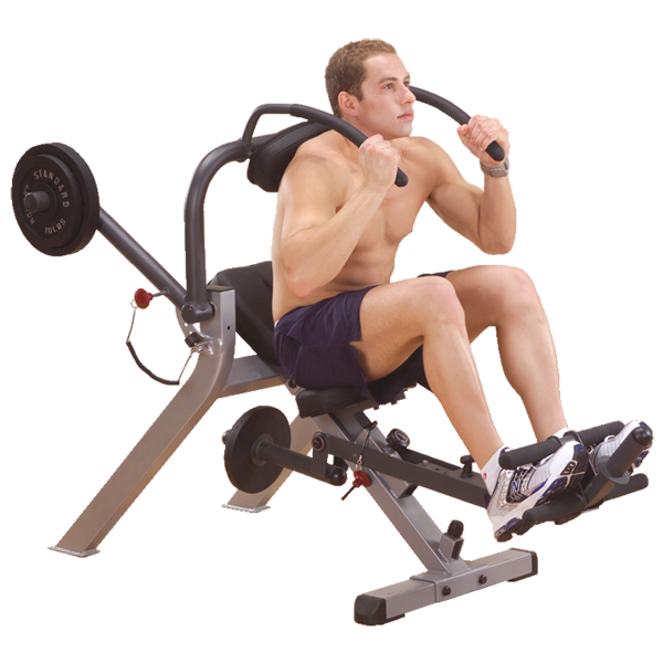 Body Solid GAB300 Semi Recumbent Ab Bench