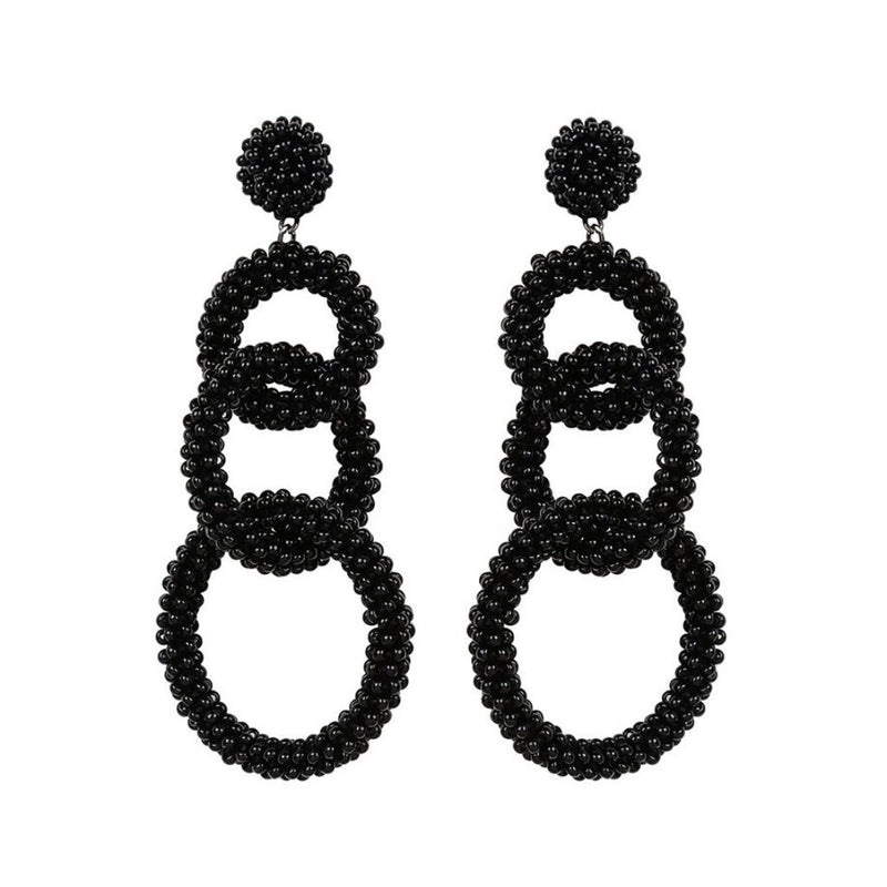 Deepa by Deepa Gurnani Handmade Ember Earrings in Black
