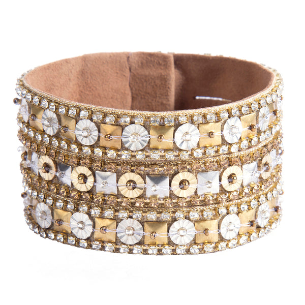 Hand Embroidered Amoli Cuff India