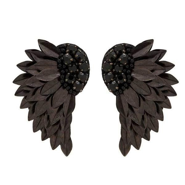 Deepa by Deepa Gurnani Handmade Black Perry Earrings