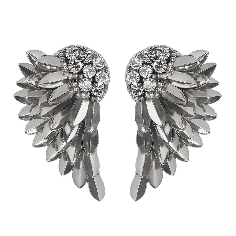 Deepa by Deepa Gurnani Handmade Silver Perry Earrings