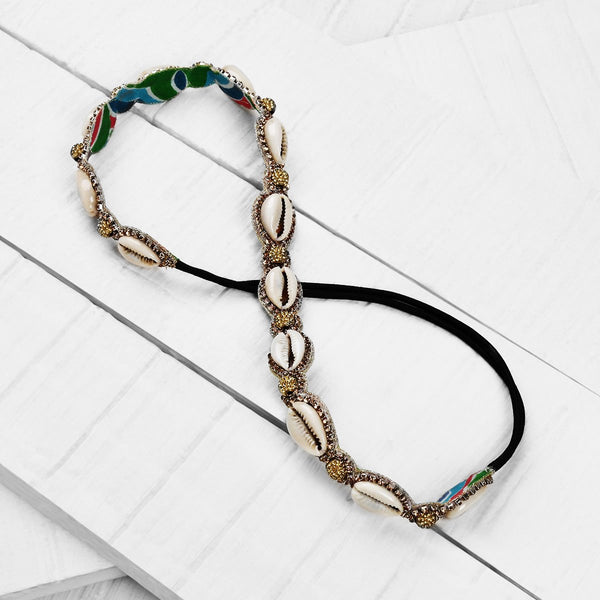 Deepa by Deepa Gurnani Handmade Gold Shell Headband