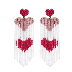 Deepa by Deepa Gurnani Handmade Dusty Pink Heart Earrings