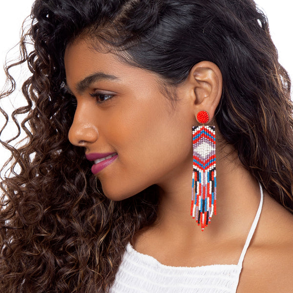 Hand Embroidered Nira Earrings