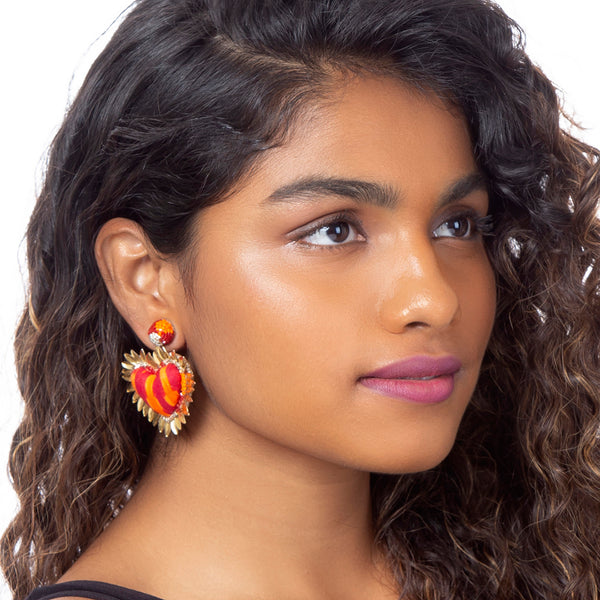 Hand Embroidered Prisha Earrings
