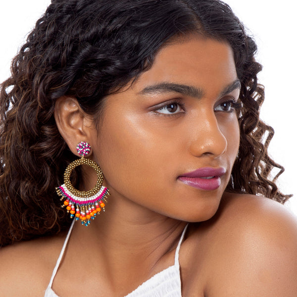 Handcrafted Luxurious Zahira Earrings India