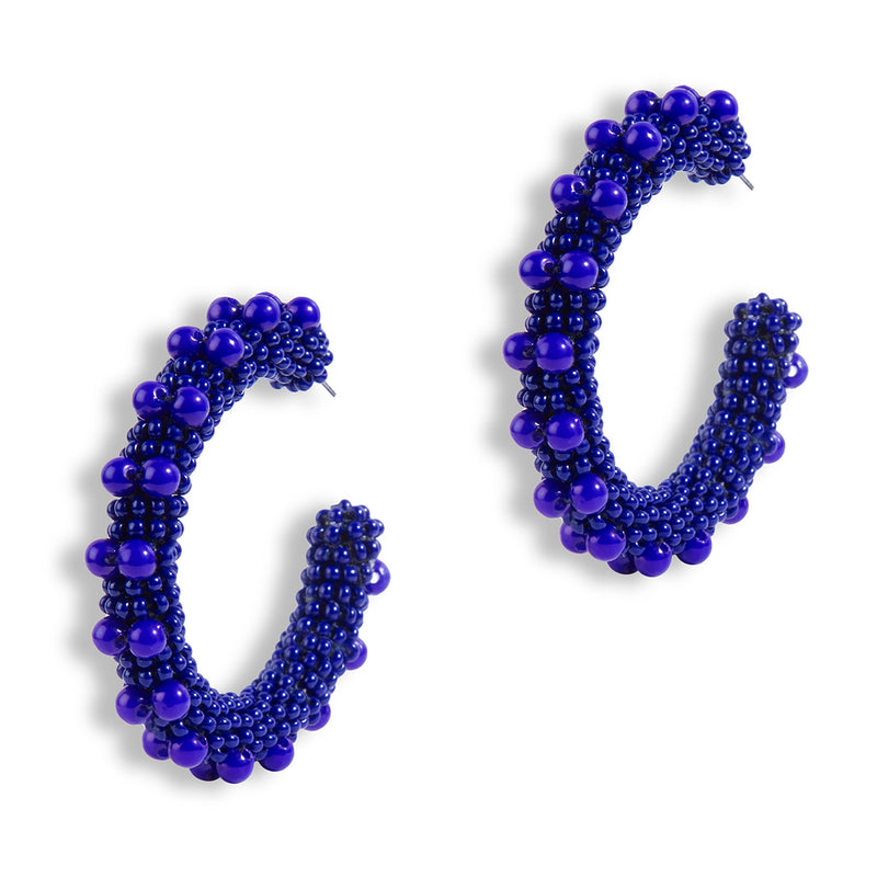 Navy Color Vidya Earrings