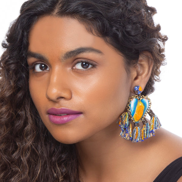 Hand Embroidered Zaina Earrings