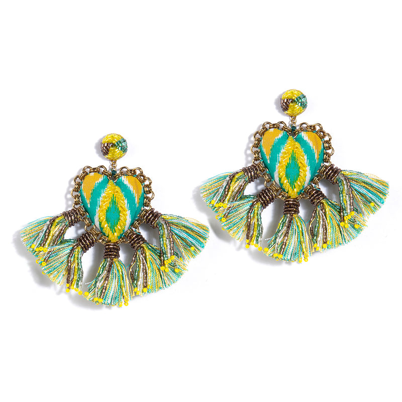 Zaina Earrings Green Color