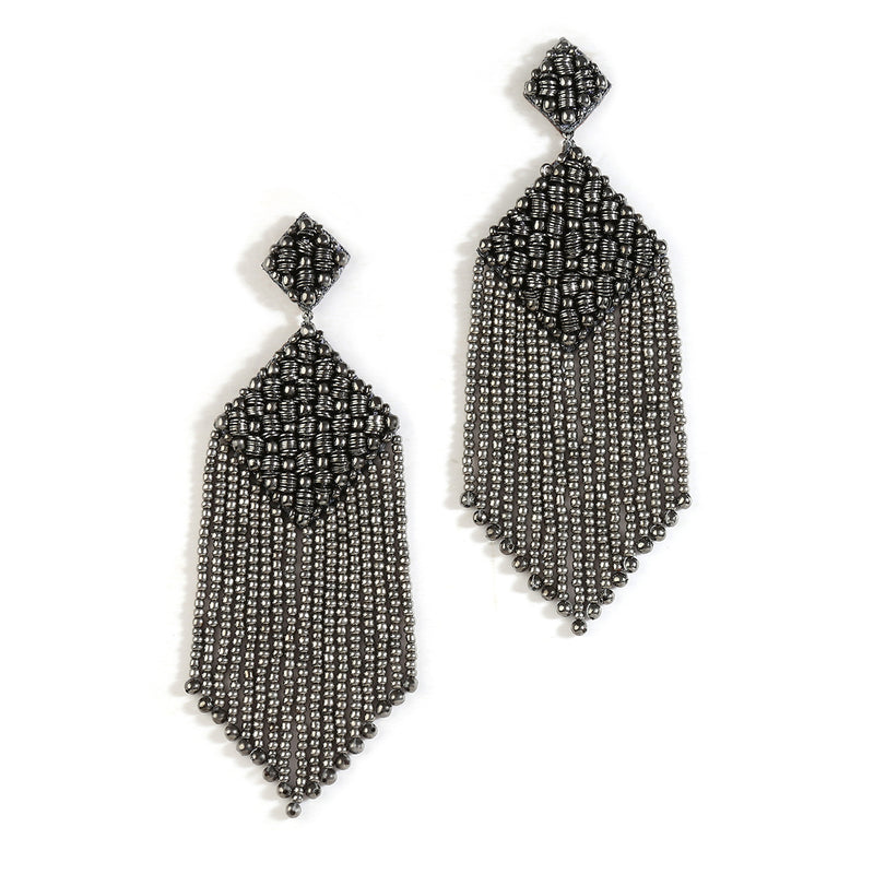 Handmade Gunmetal Color Jenya Earrings