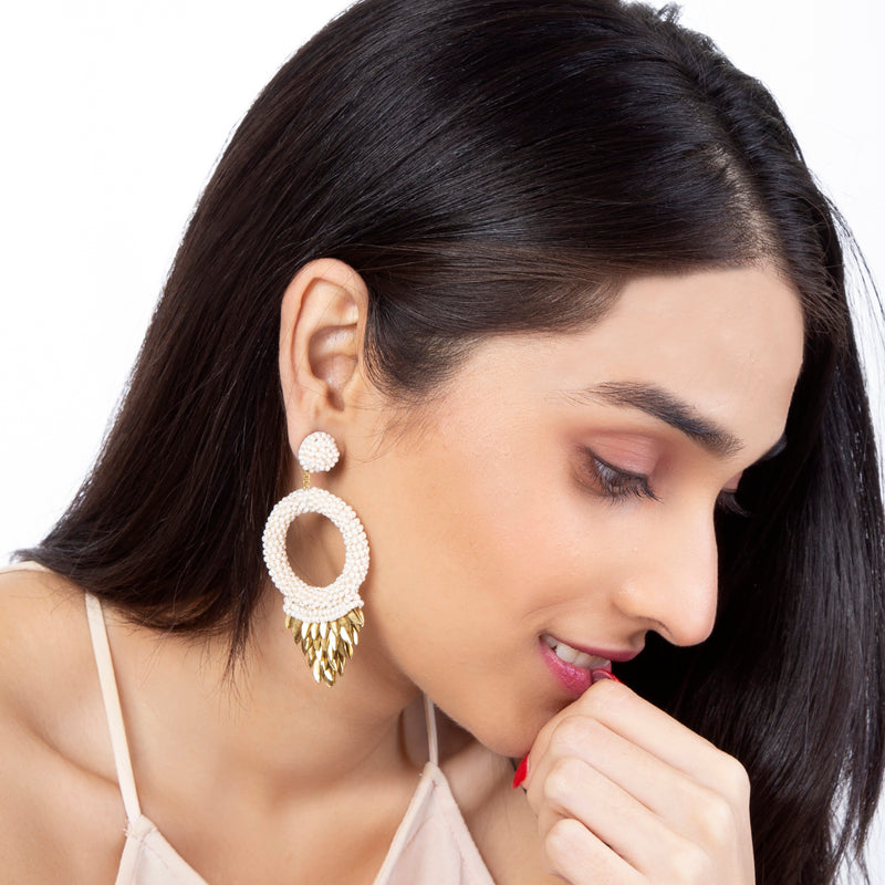 Hand Embroidered Franka Earrings India