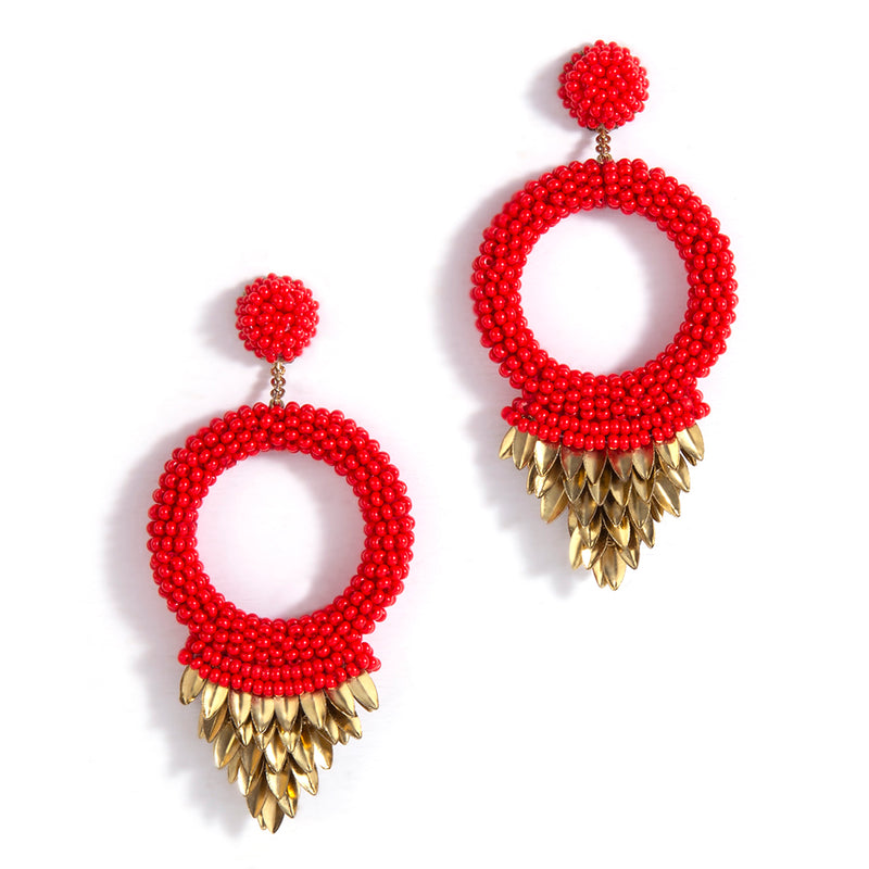 Red Franka Earrings India