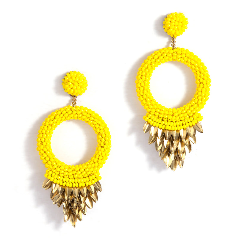 Franka Yellow Color Earrings