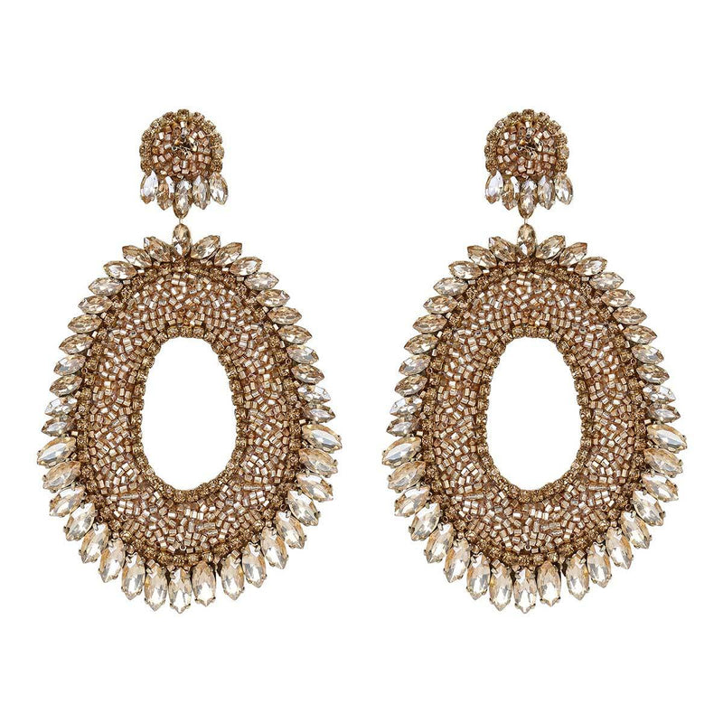 Deepa Gurnani Handmade Kiki Earrings in Gold