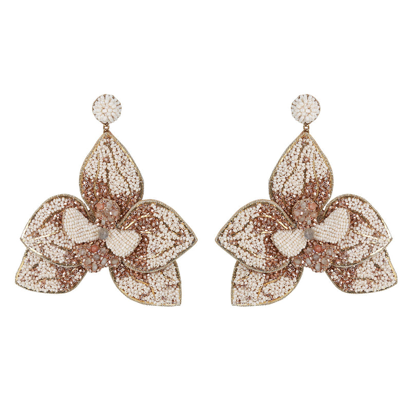 Deepa Gurnani Handmade Orchid Earrings