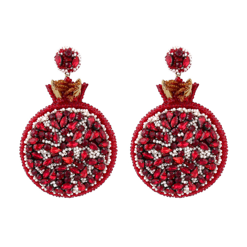 Deepa Gurnani Handmade Pomegranate Earrings