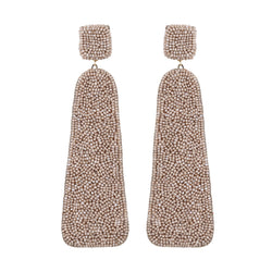 Deepa Gurnani Handmade Callia Earrings Beige