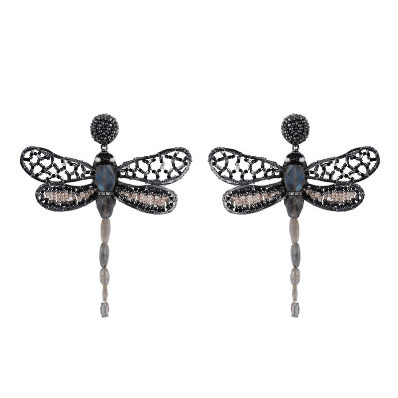 Deepa Gurnani Handmade Dragonfly Earrings