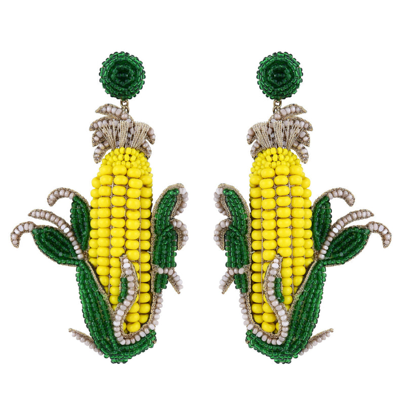 Deepa Gurnani Handmade Corn on the Cob Earrings