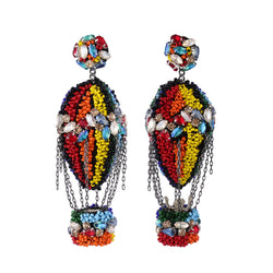 Deepa Gurnani Handmade Hot Air Balloon Earrings
