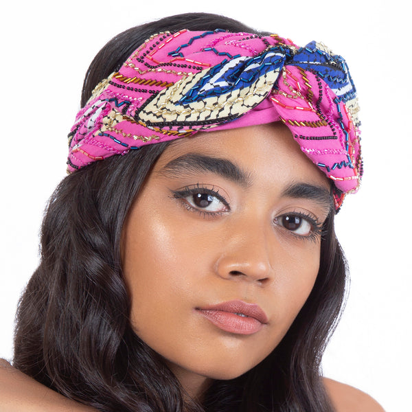 Hand Embroidered Kita Headwrap India