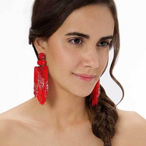 The Perfect Style Red Lightweight Jody Earrings