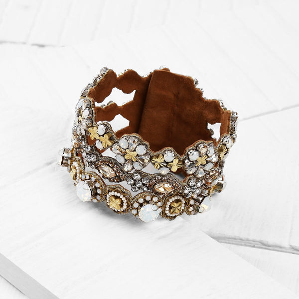 Deepa by Deepa Gurnani Handmade Finley Cuff on Wood Background