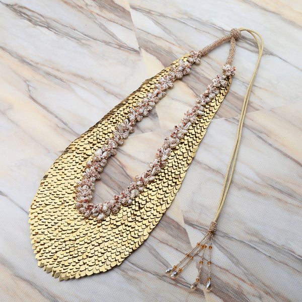 Deepa Gurnani Handmade Gold Statement Necklace