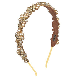 Deepa by Deepa Gurnani Handmade Peony Headband in Gold