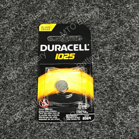 1025 Duracell 3V Lithium Coin Cell DL1025