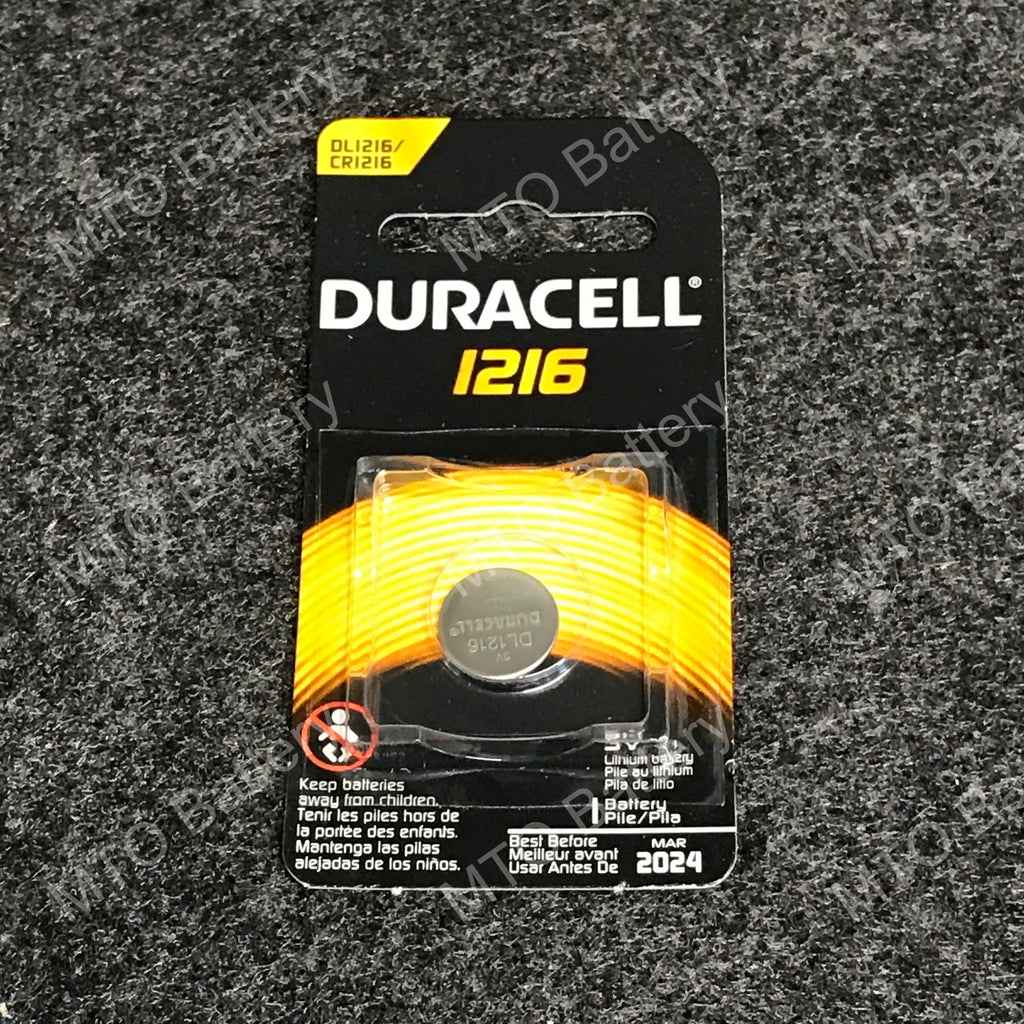 1216 Duracell 3V Lithium Coin Cell DL1216