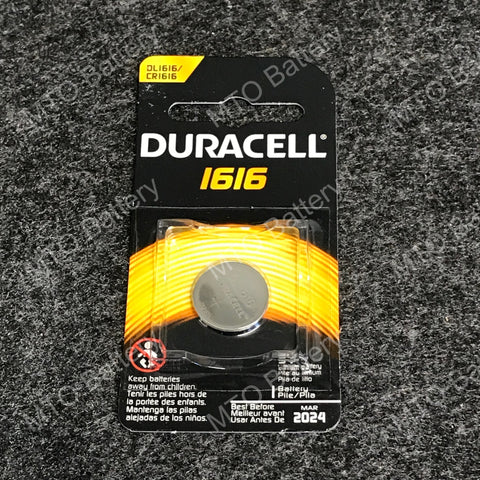 1616 Duracell 3V Lithium Coin Cell DL1616