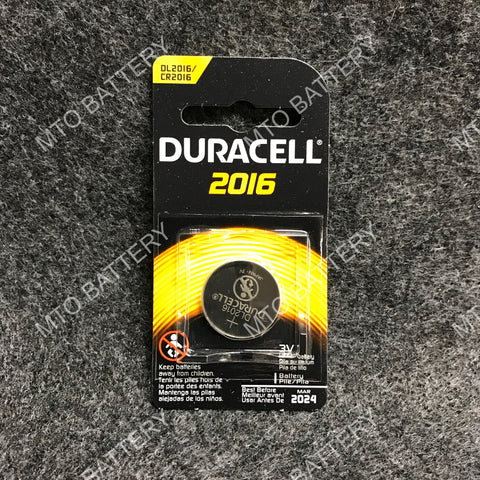 2016 Duracell 3V Lithium Coin Cell DL2016