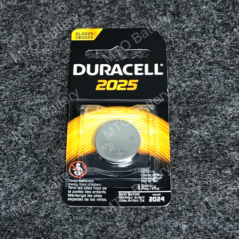 2025 Duracell 3V Lithium Coin Cell DL2025